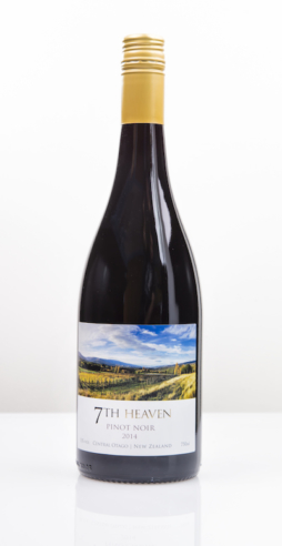 2014 Pinot Noir from Central Otago vineyard 7th Heaven