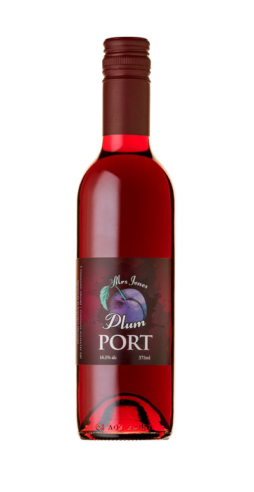 Mrs Jones Plum Port. Plum Fruit Port made by Suncrest Jones Family Orchard