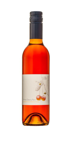 Mrs Jones White Cherry & Manuka Honey Port. White Cherry & Manuka Honey Fruit Port made by Suncrest Jones Family Orchard